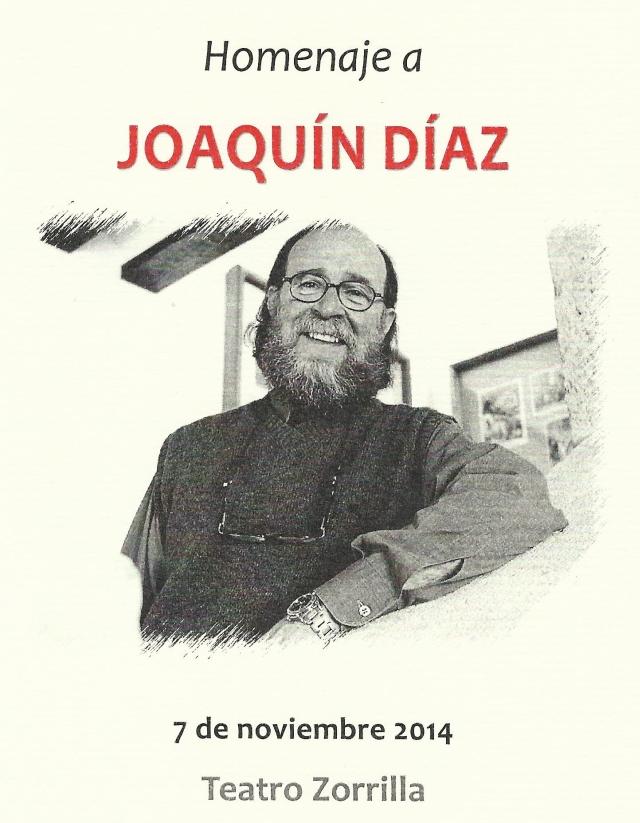 Homenaje a Joaquín Díaz 01.2