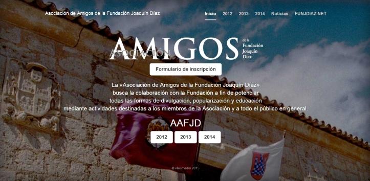 Web Asociación Amigos Fundación Joaquín Díaz (Abril 2015)
