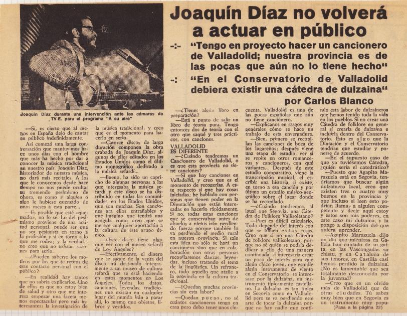 Joaquín Díaz - No volveré a actuar 1 (Corregida)