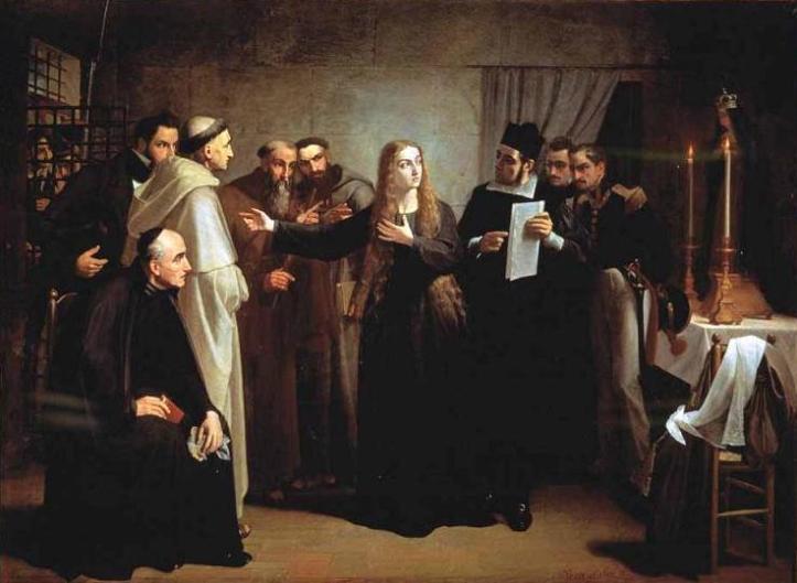 Mariana Pineda en capilla (1862 Juan Antonio Vera Calvo)
